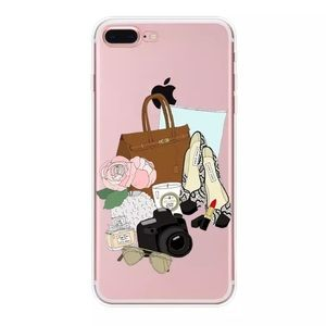 PARIS CUTE IPHONE 7 8 PLUS SOFT CASE GIRL PINK 💕